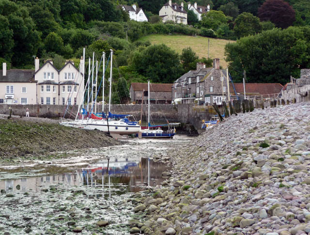 Porlock Weir harbour at low tide - geograph.org.uk - 1710789