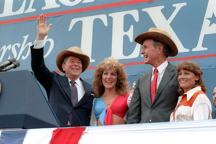 President Reagan and Vice President Bush at a rally at Auditorium Shores in Austin Texas.jpg