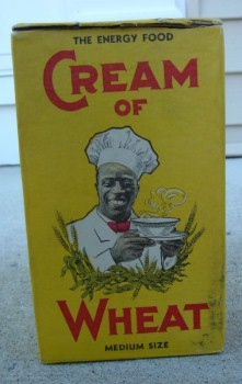 An old Cream of Wheat box, circa 1919