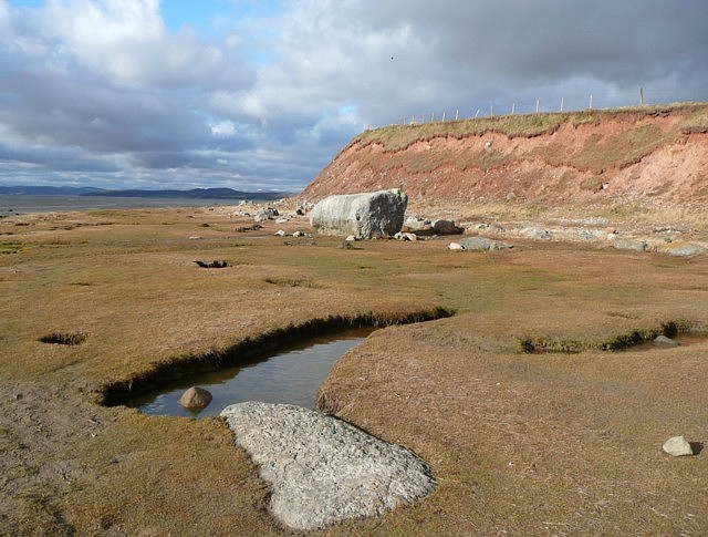 Red Bank and a rock, Bolton le Sands - geograph.org.uk - 1754771