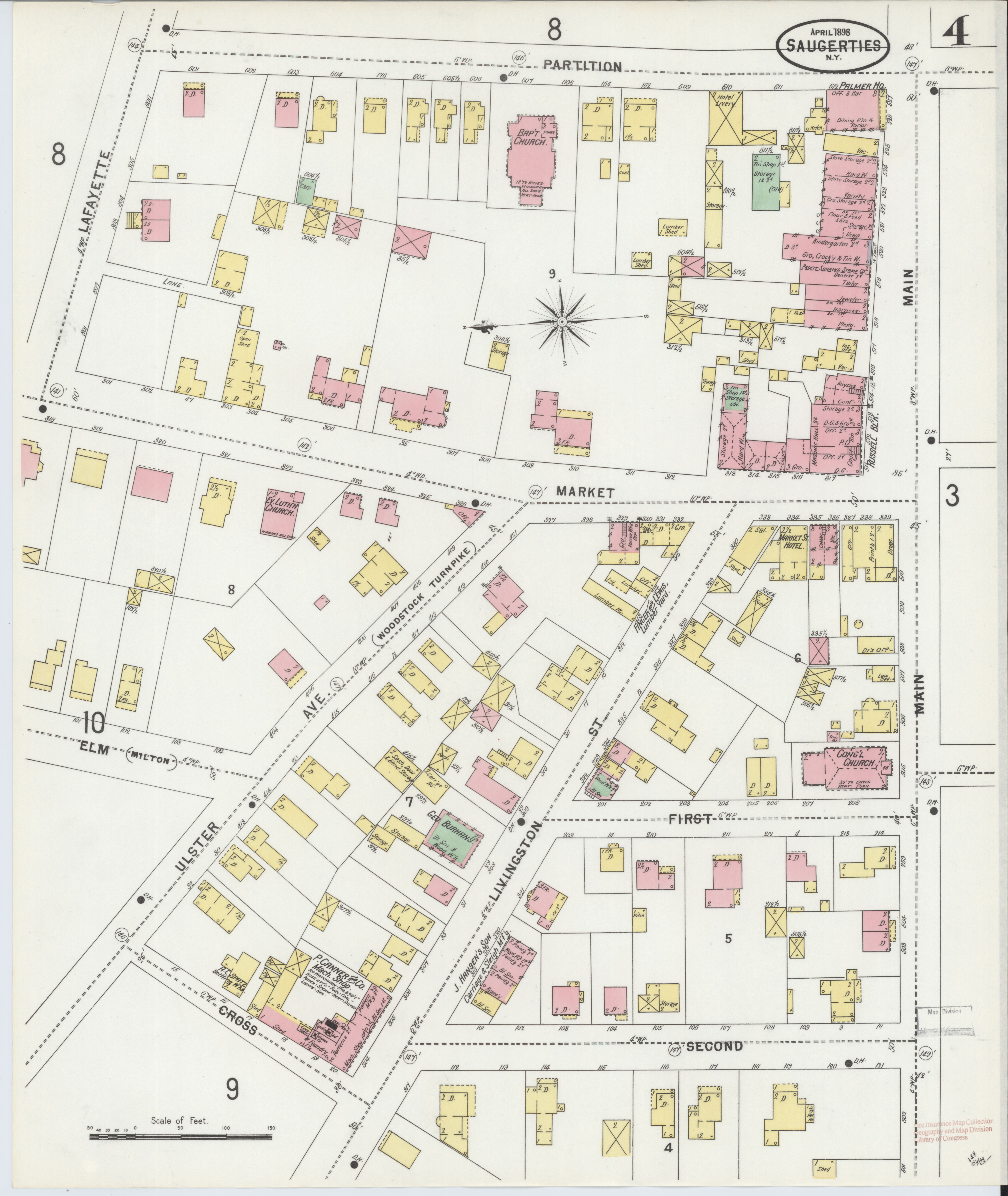 Ulster County New York Map.File Sanborn Fire Insurance Map From Saugerties Ulster County New