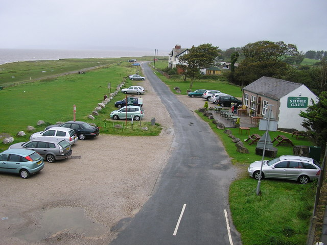 Shore Road and Cafe, Hest Bank - geograph.org.uk - 1477147