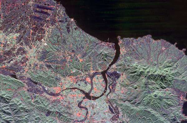Satellite image of Taipei City