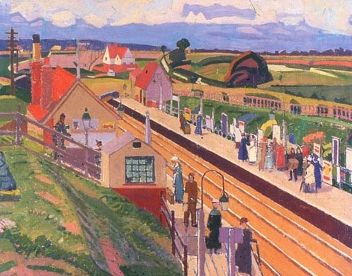 Letchworth Station 1912 By Spencer Frederick Gore