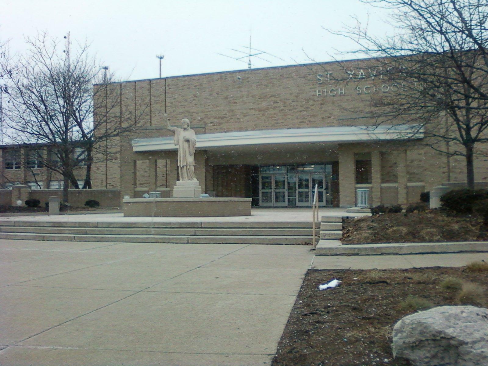Description st xavier high school cincinnati front entrance