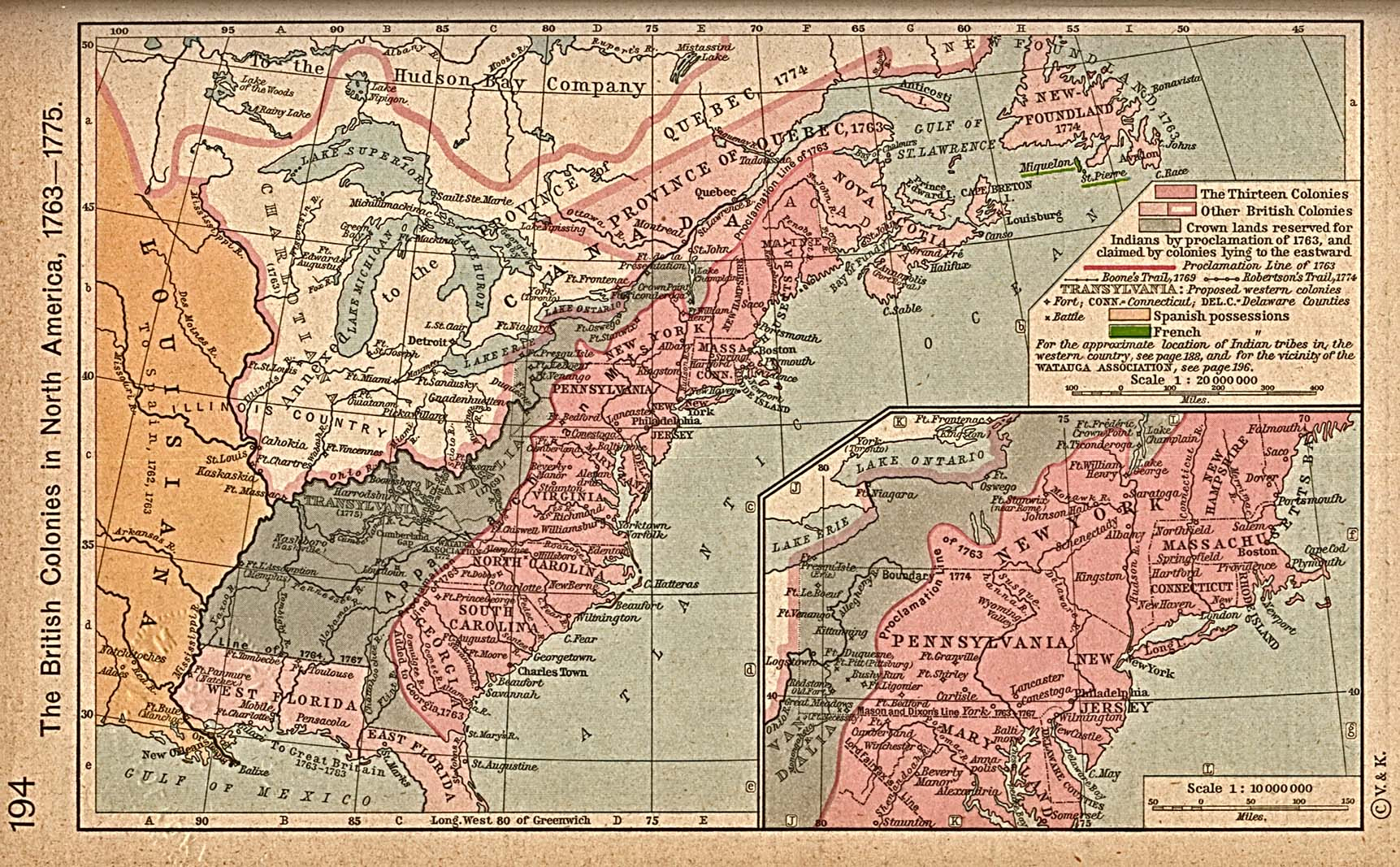 File The British Colonies 1763 To 1776 Jpg Wikimedia Commons
