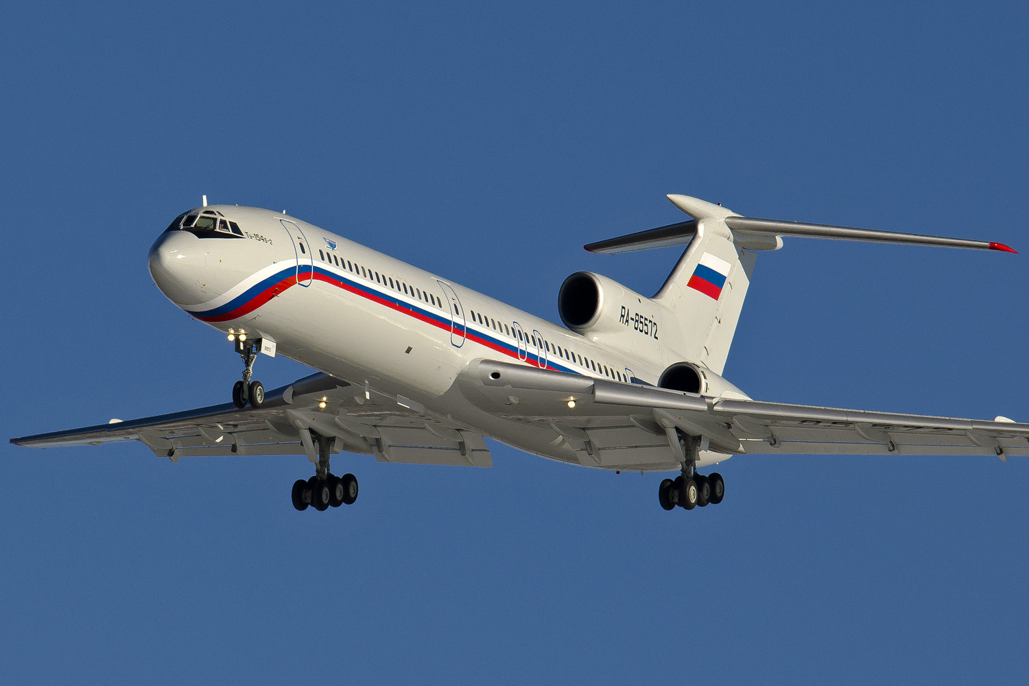 Tupolev Tu-154B-2 (RA-85572) on final approach at Chkalovsky