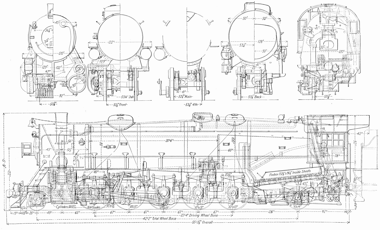 Free Steam Locomotive Drawings