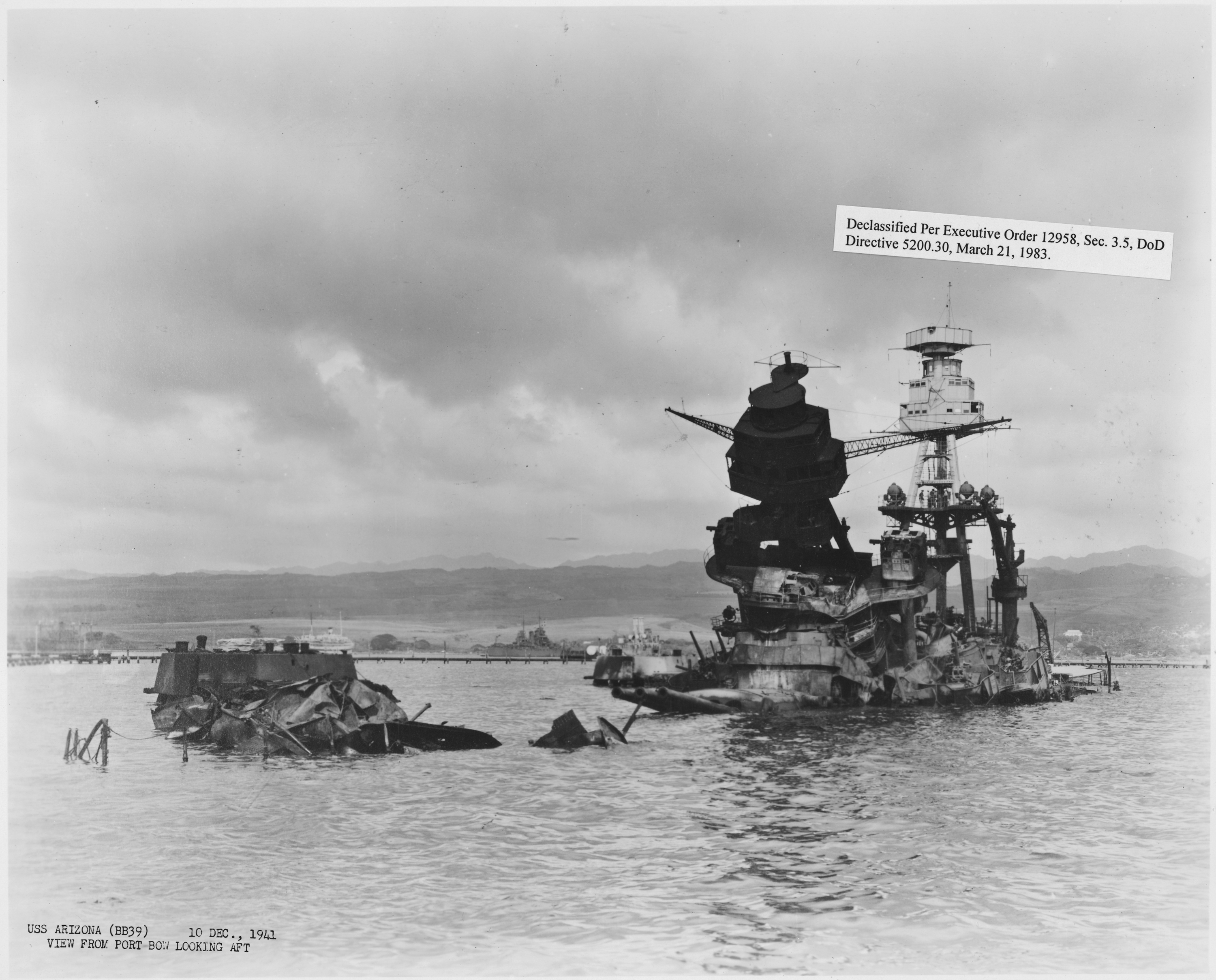 """a history of the uss arizona and the pearl harbor attack in the pacific The deadly surprise attack on the us pacific fleet at pearl harbor, launched without a declaration of war, made 7 december 1941 """"a date which will live in infamy,"""" in the attack on 'battleship row' on 7 december, two elderly battleships, the arizona and oklahoma, were damaged beyond repair by bomb or torpedo hits."""