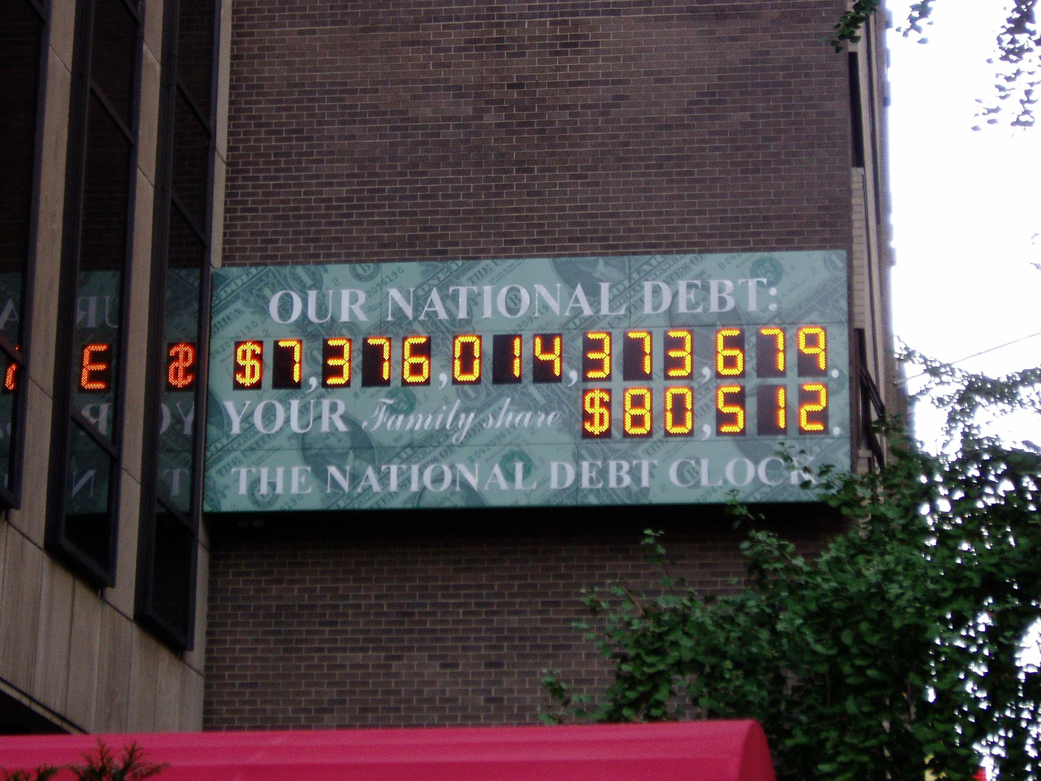 Us Debt Holders Chart: National Debt Clock - Wikipedia,Chart