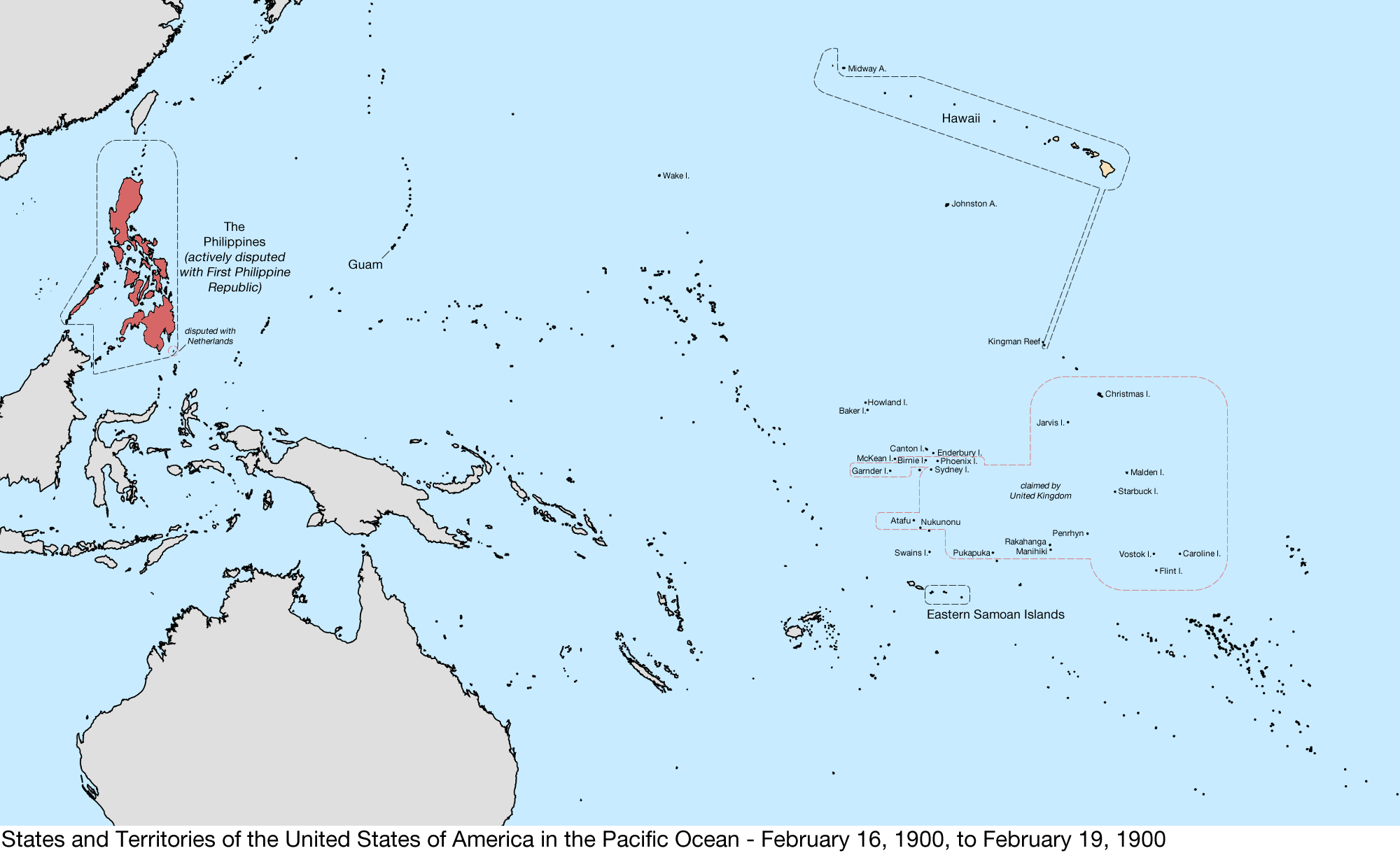 Fileunited States Pacific Map 1900 02 16 To 1900 02 19png - Pacific-us-map