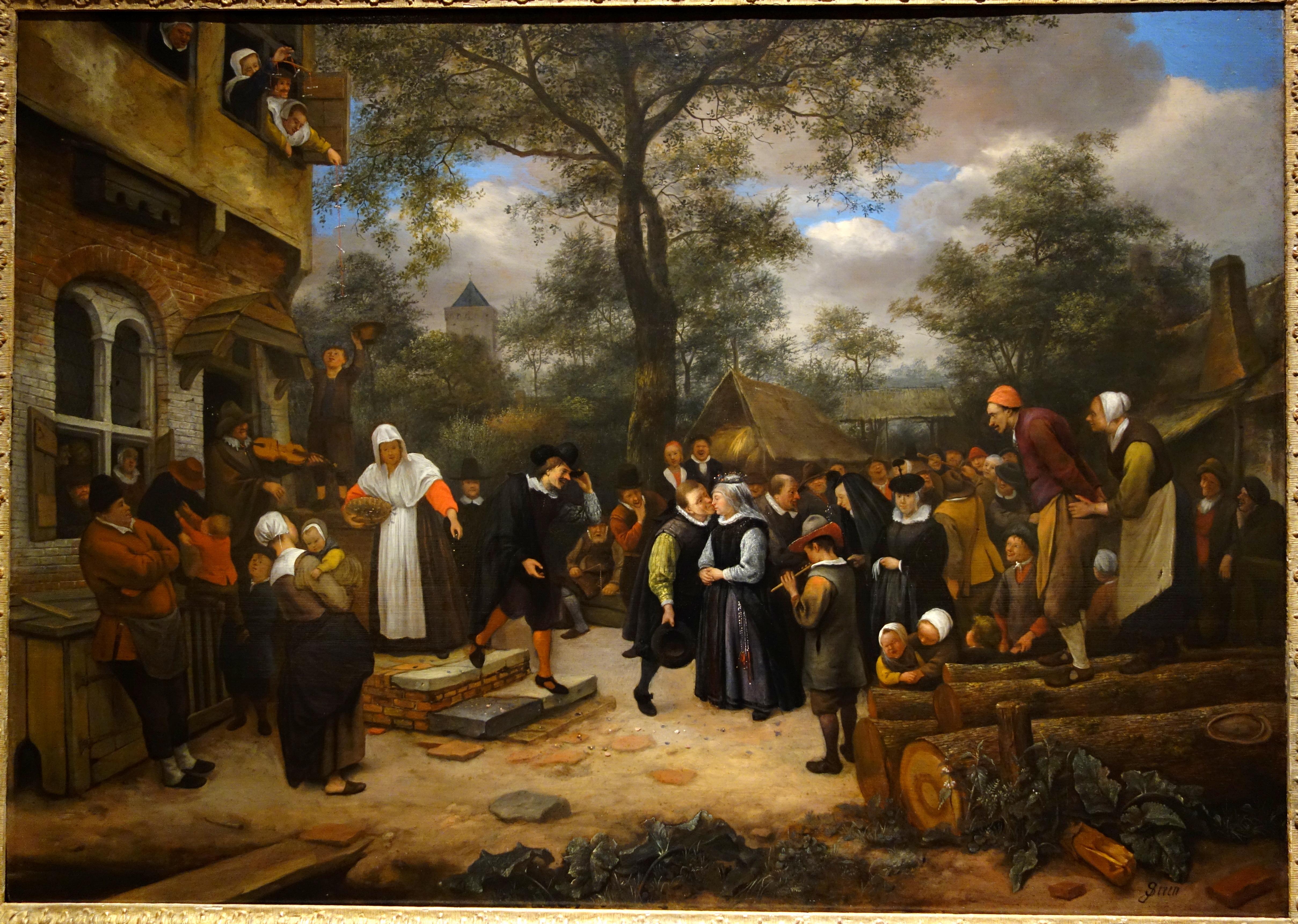 filevillage wedding by jan steen 17th century oil on
