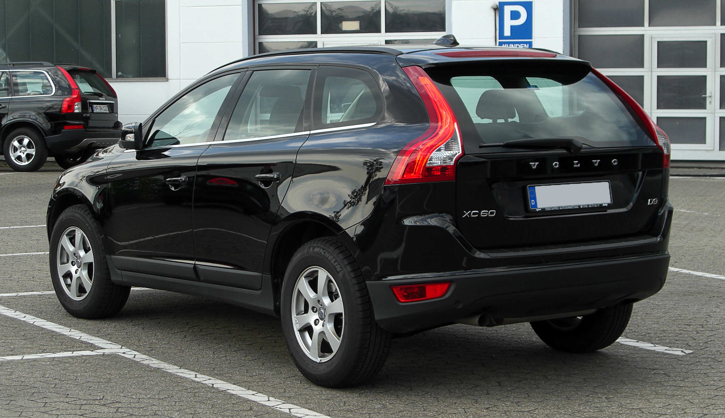 file volvo xc60 d3 heckansicht 16 april 2011 wikimedia commons. Black Bedroom Furniture Sets. Home Design Ideas
