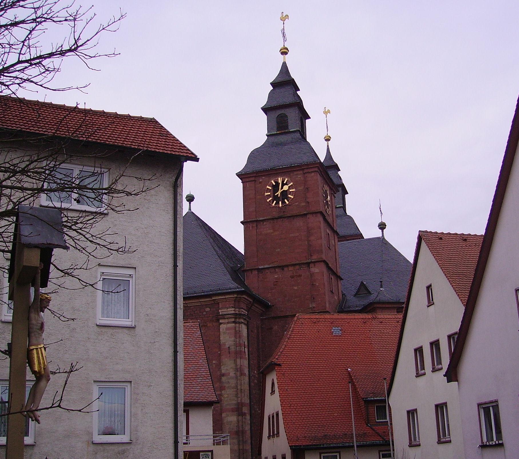 Wallfahrtskirche St. Georg in Walldürn - Quelle: WikiCommons