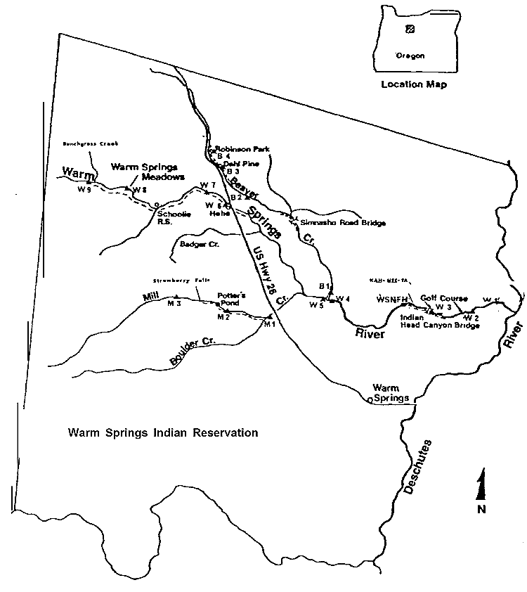 Warm Springs River Wikipedia - Map of kahneeta oregon