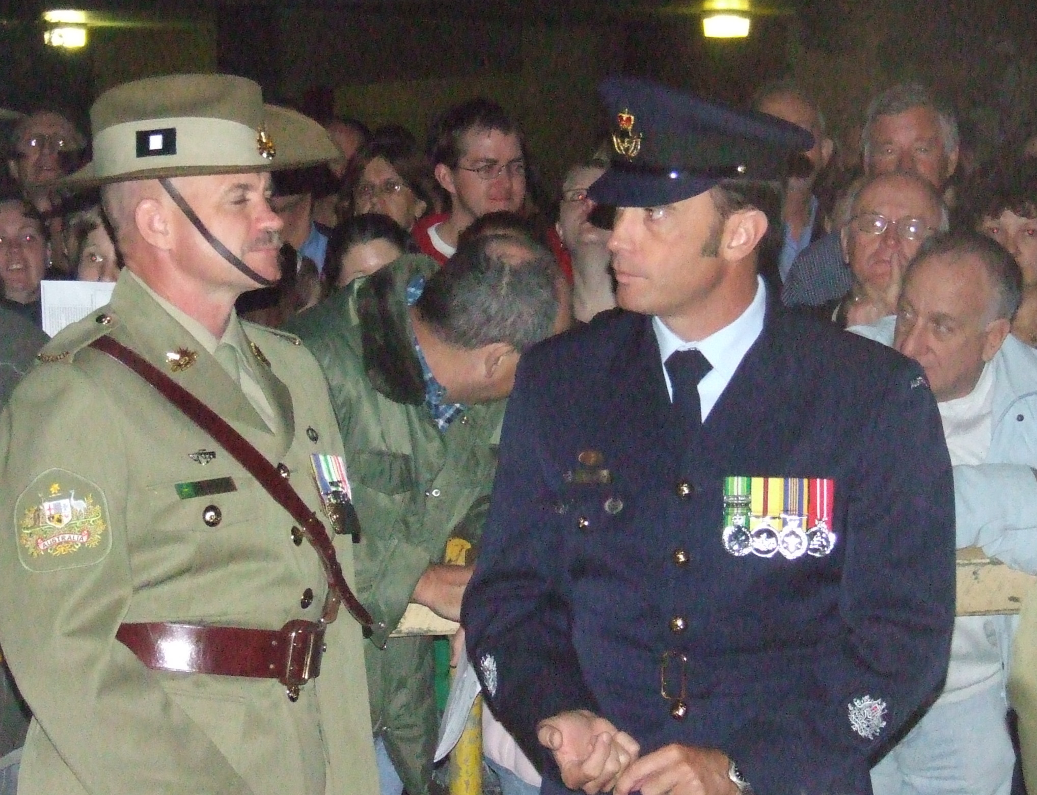 File:Warrant Officers Class One from the Army and Royal Australian ...
