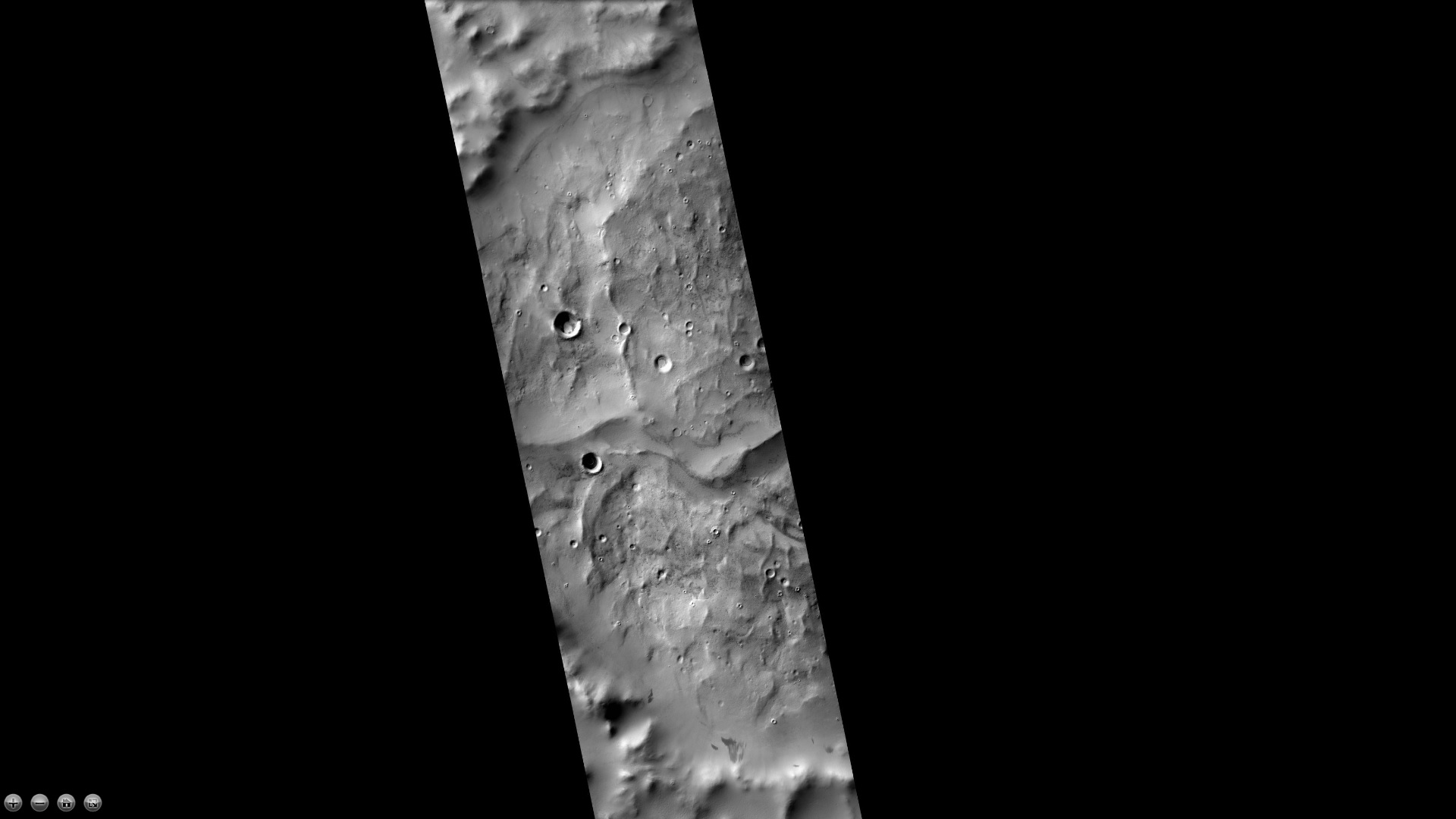 Eskers in Joly crater, as seen by CTX camera. Eskers are the ridges in the image; they are formed by streams running under a glacier.