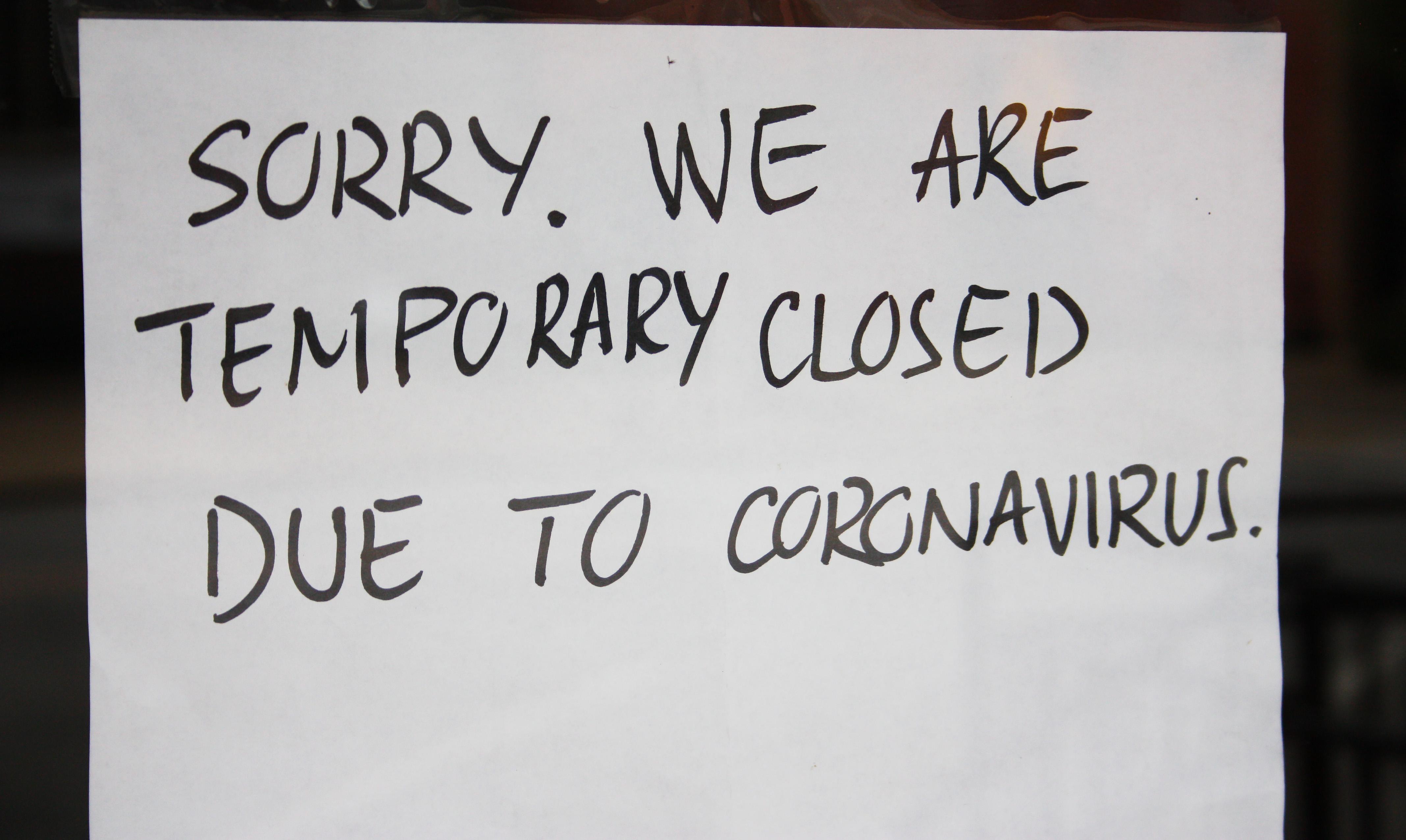 """File:""""Closed"""" Sign Due to Coronavirus - 49704597502.jpg - Wikimedia Commons"""
