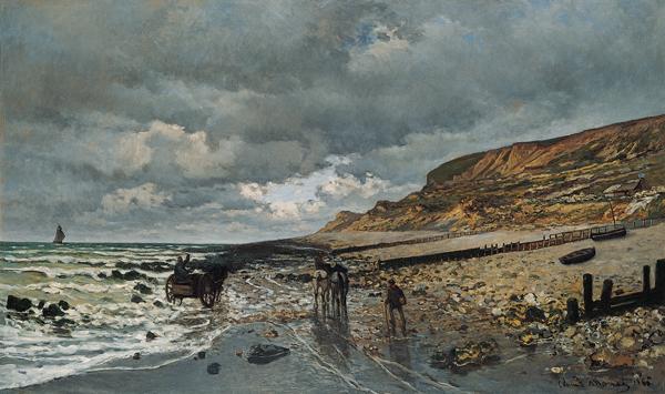 File:'La Pointe de la Hève at Low Tide', oil on canvas painting by Claude  Monet.jpg - Wikimedia Commons