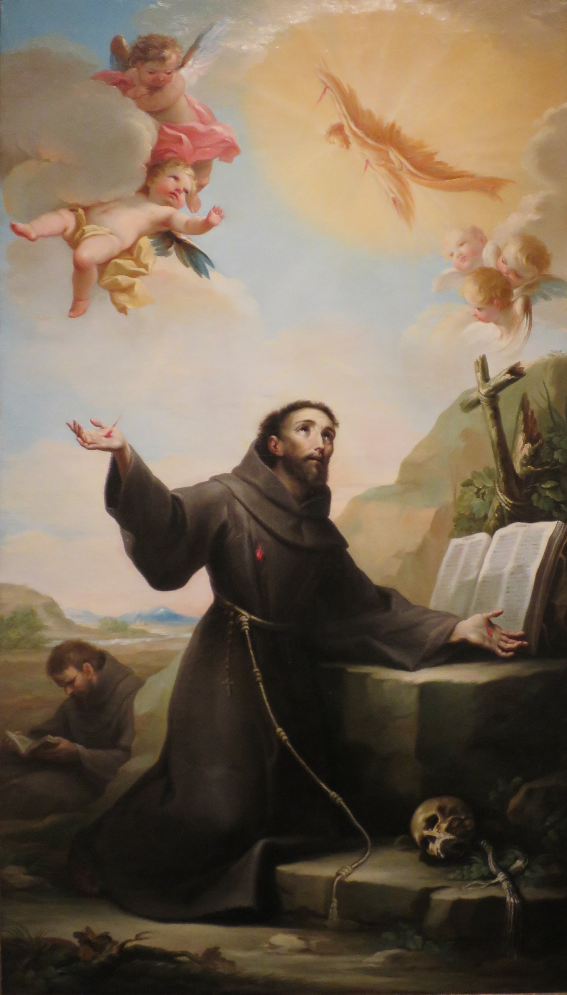 file st francis of assisi receiving the stigmata by salvador maella lacma jpg