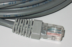 10BASE-T Cable. Picture taken by Duncan Lock a...