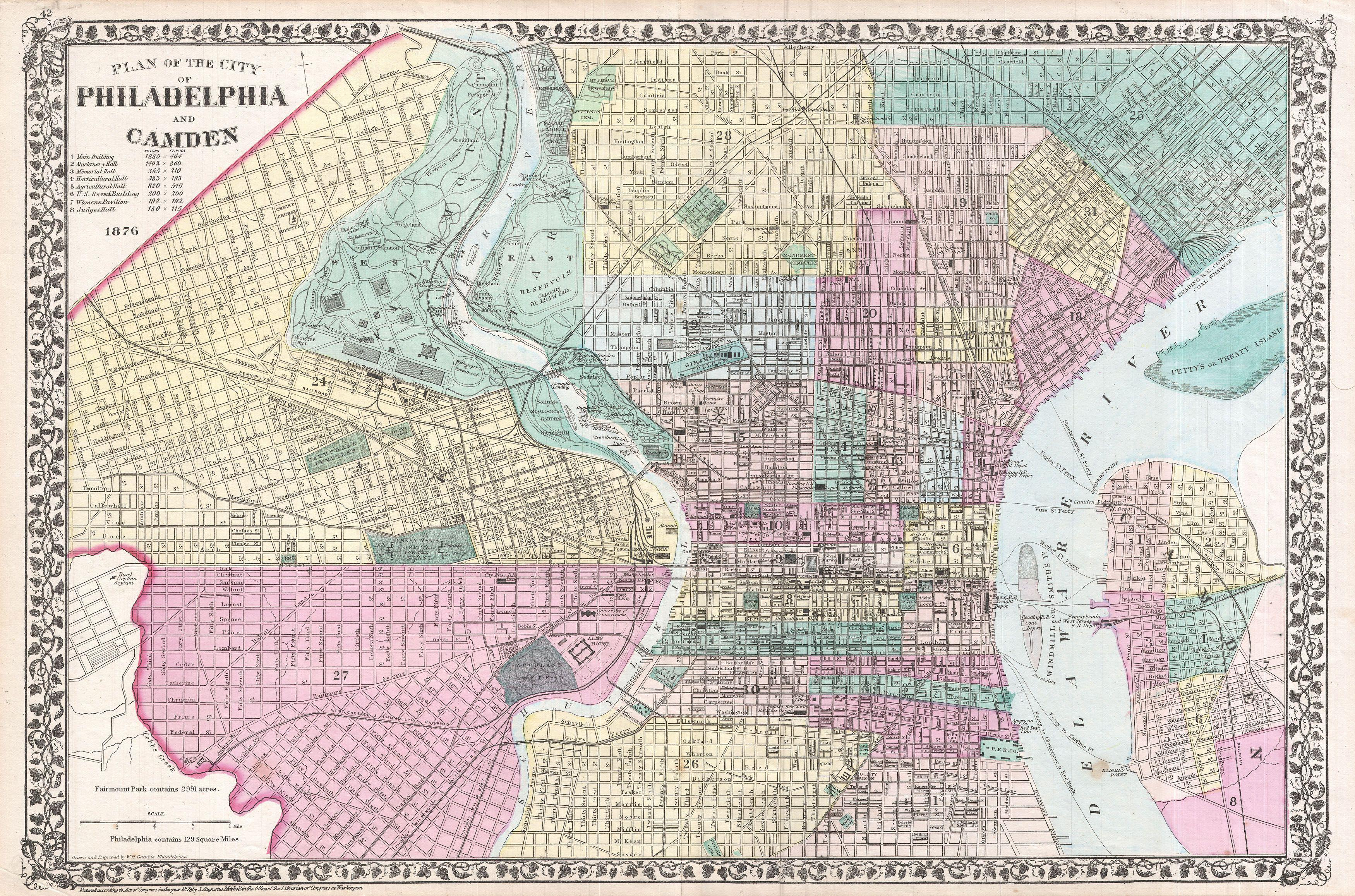 File Mitchell Map Of Philadelphia Pennsylvania - Pennsylvania in us map