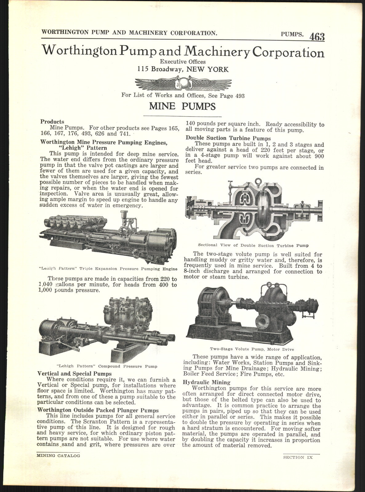 File:1922 AD Worthington Pump and Machinery Corporation Mine Pumps