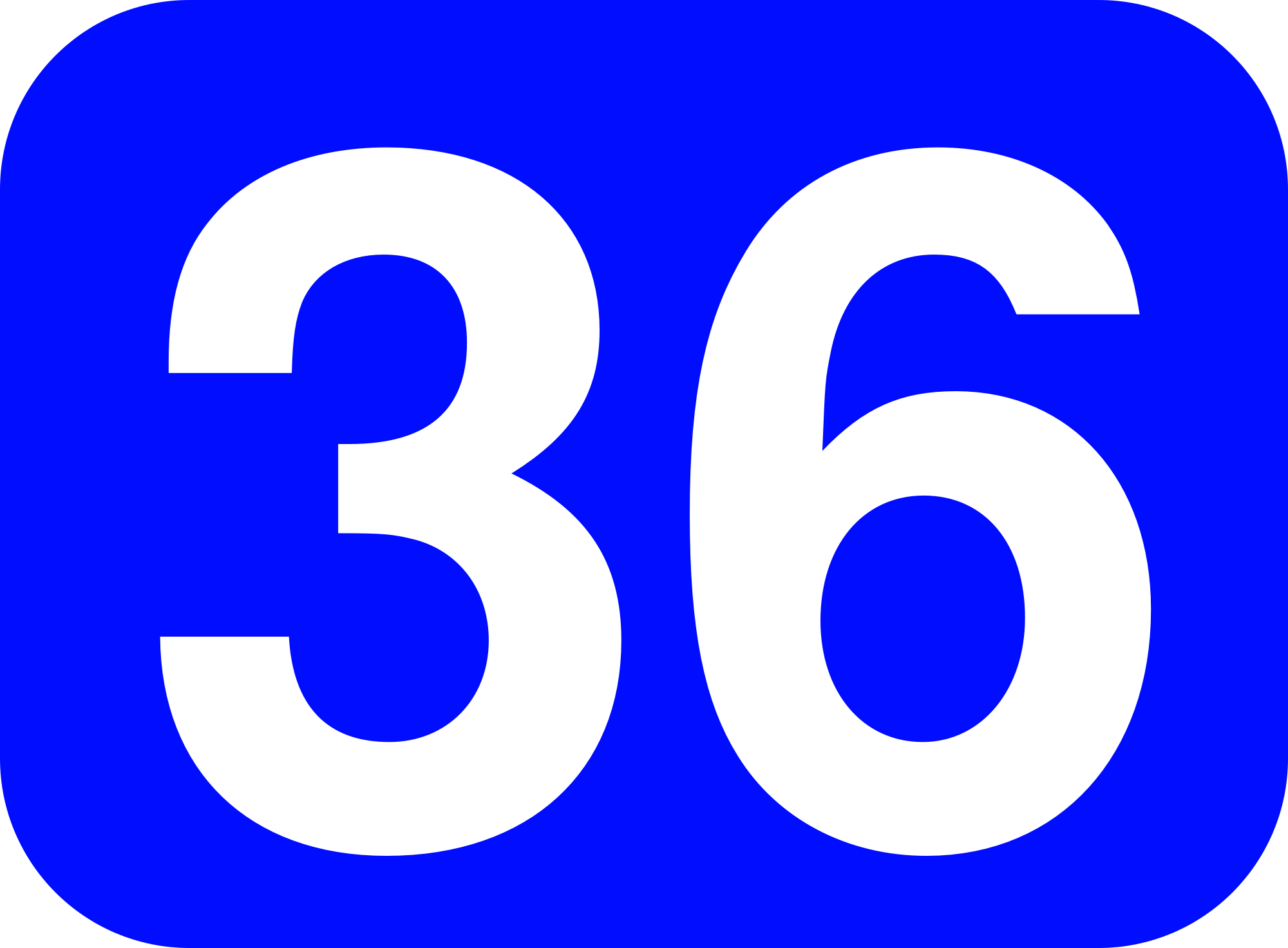 File:36 white, blue rounded rectangle.png