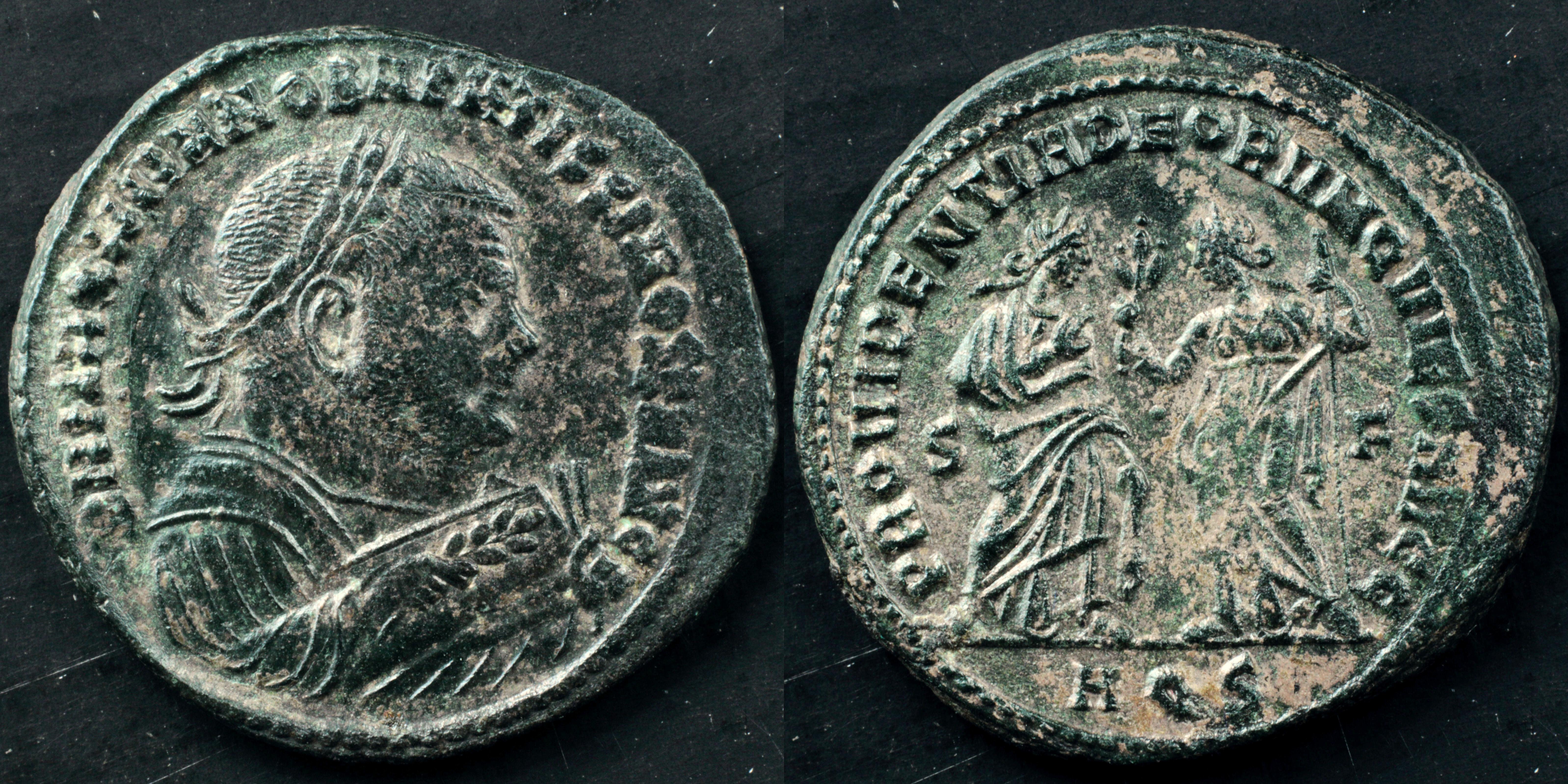 Byzantine (300-1400 Ad) Faithful Byzantine Empire Maurice Tiberius Follis Constantinople Ae 30 Nice Coin Coins & Paper Money
