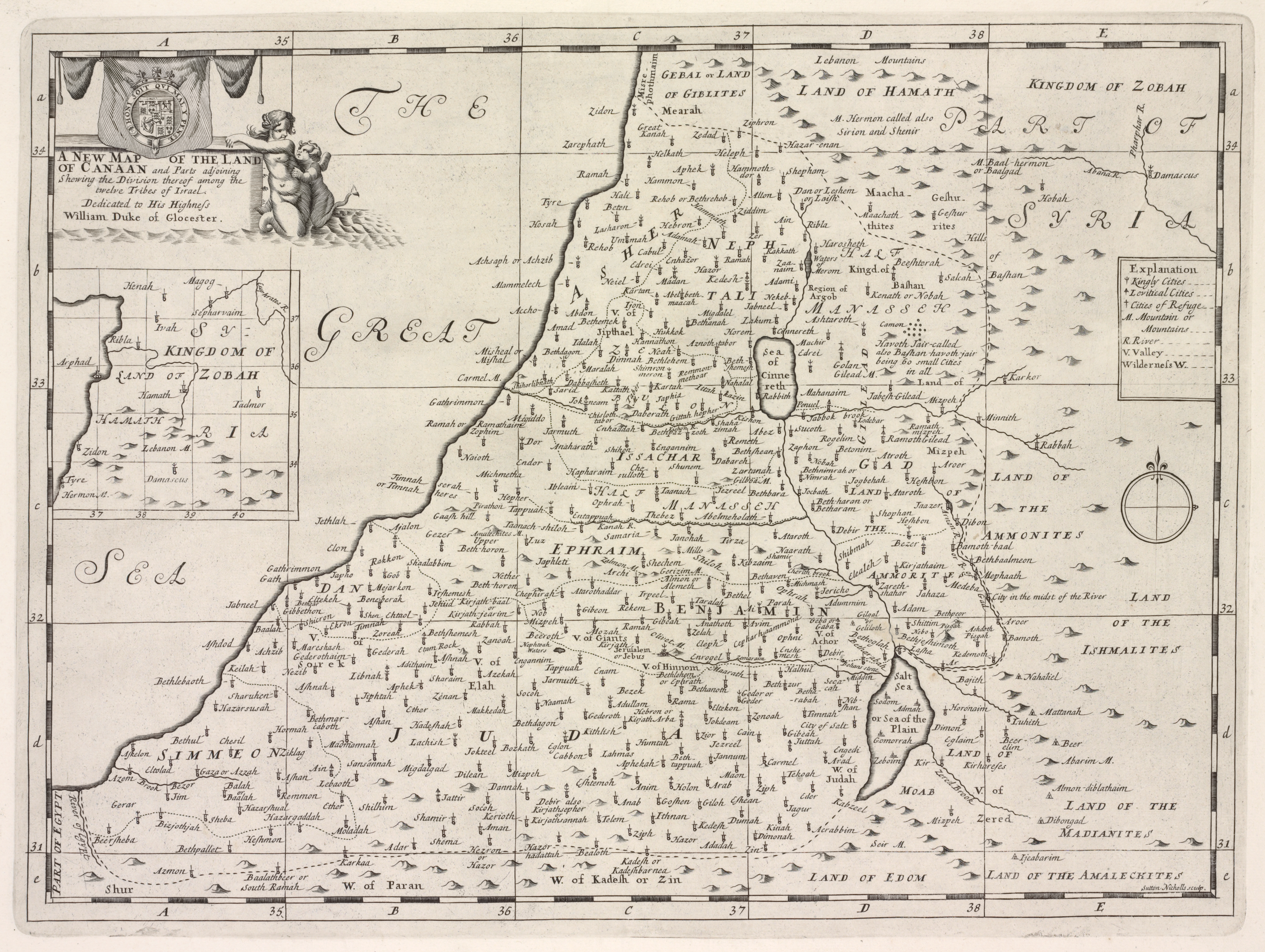 FileA new map of the Land of Canaan and part adjoining shewing