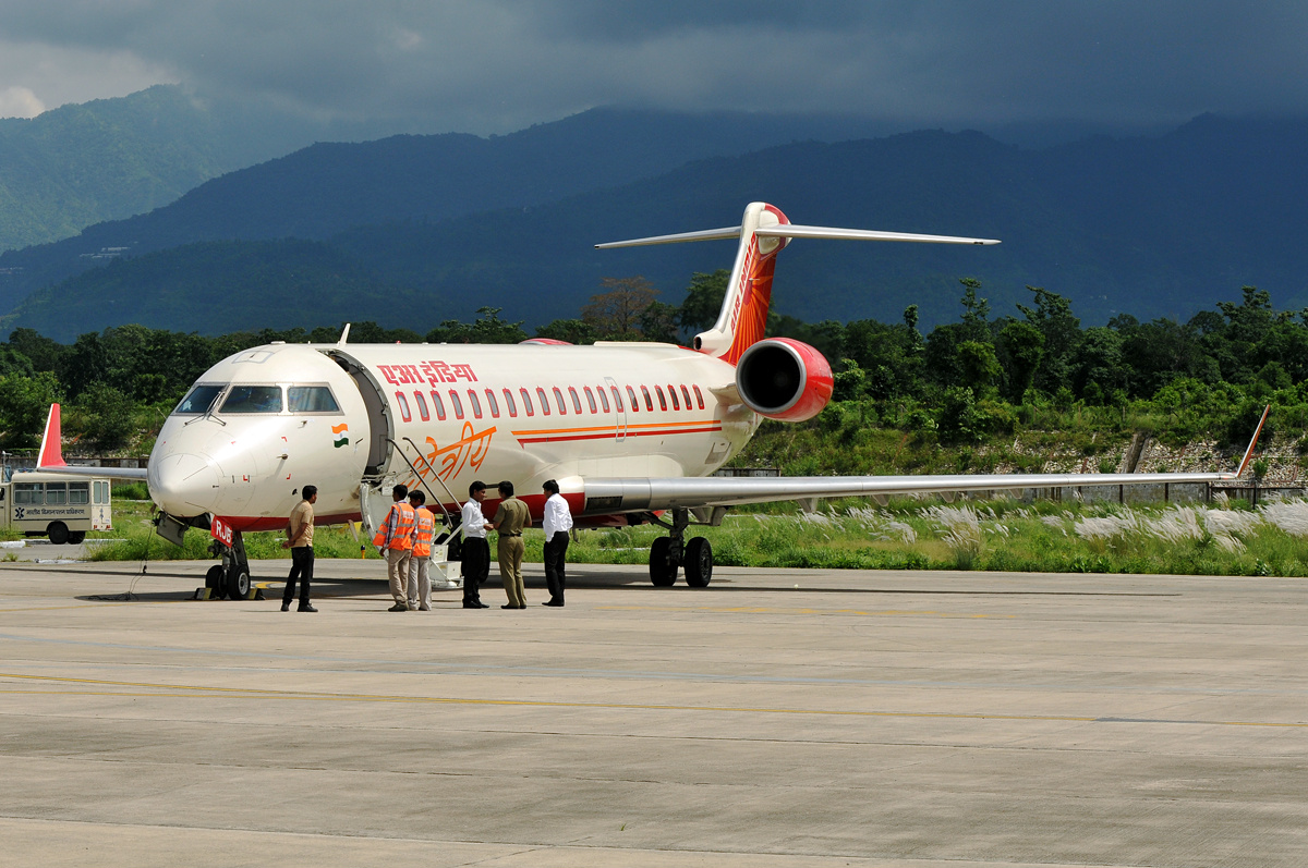 Air India Regional Bombardier CRJ700 at Dehradun Jolly Grant Airport.jpg