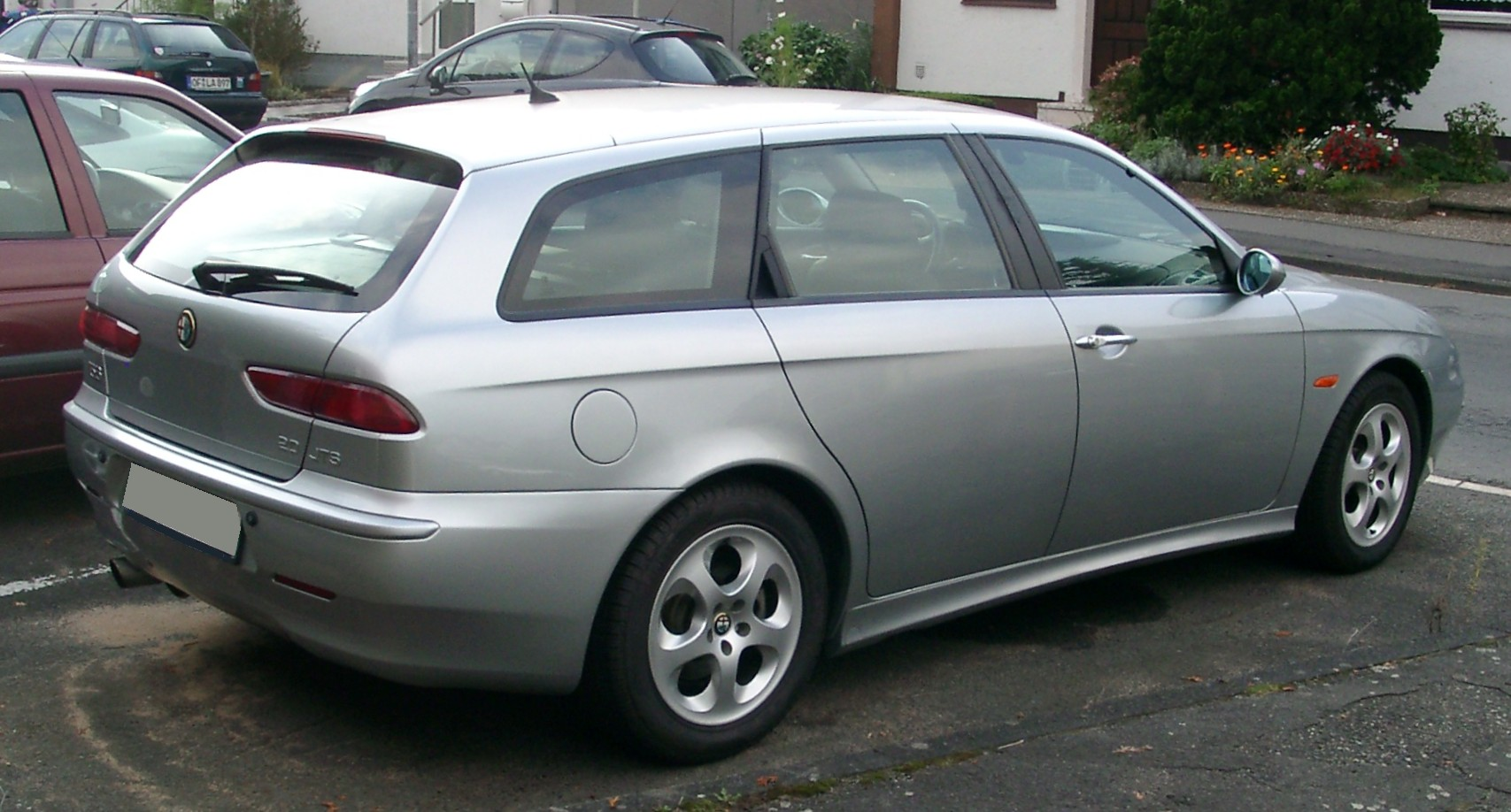 file alfa romeo 156 sportwagon rear wikimedia commons. Black Bedroom Furniture Sets. Home Design Ideas