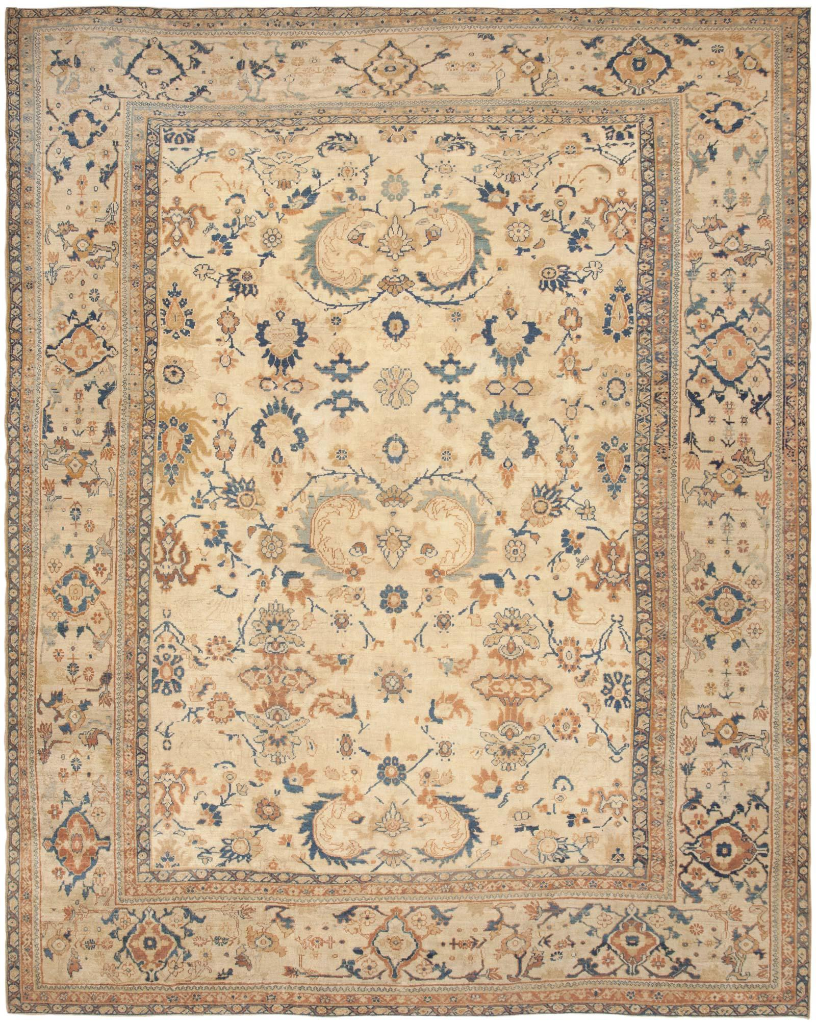fileantique persian sultanabad rug with an ivory fieldjpg