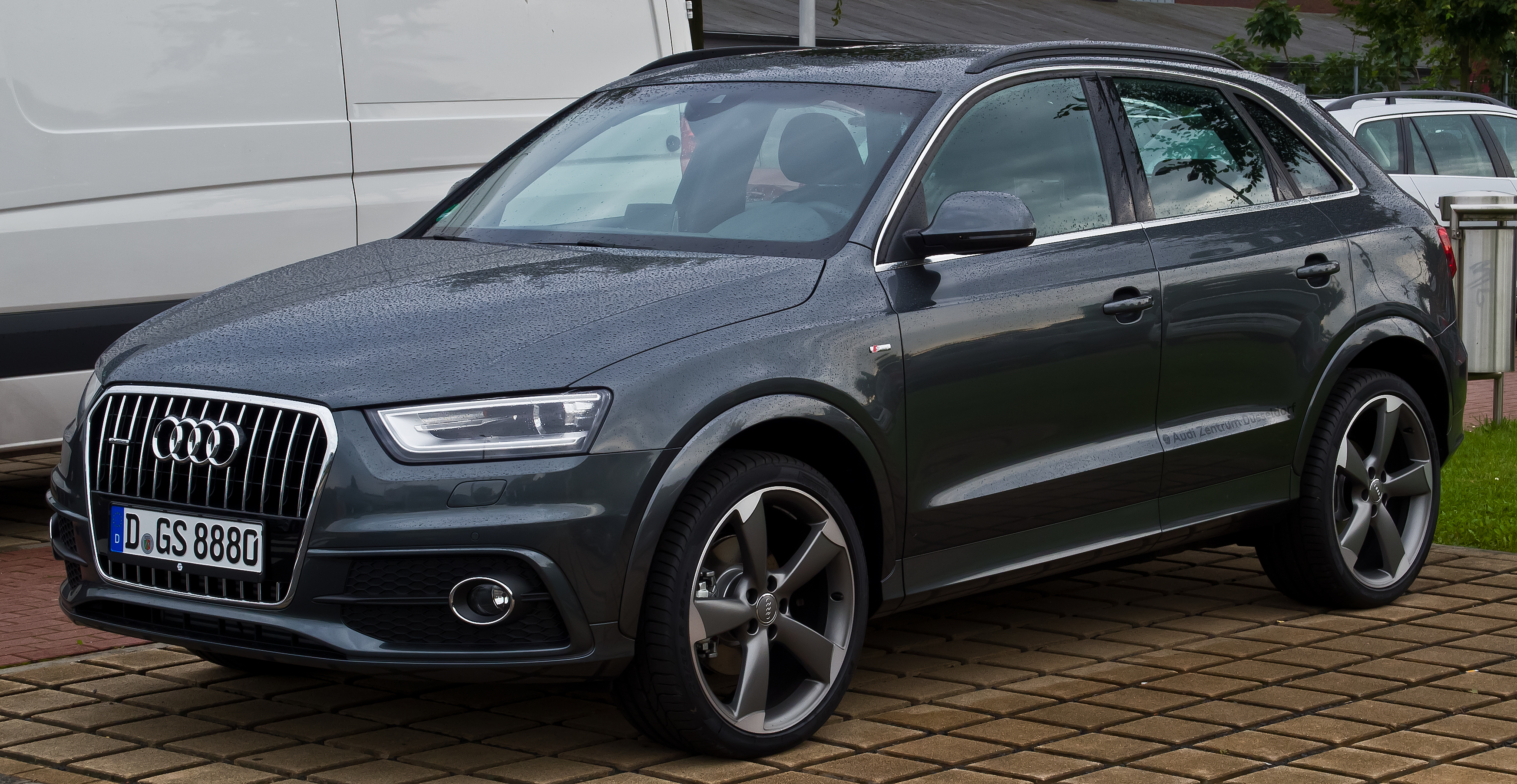 file audi q3 2 0 tdi quattro s line frontansicht 24 august 2014 d wikimedia. Black Bedroom Furniture Sets. Home Design Ideas
