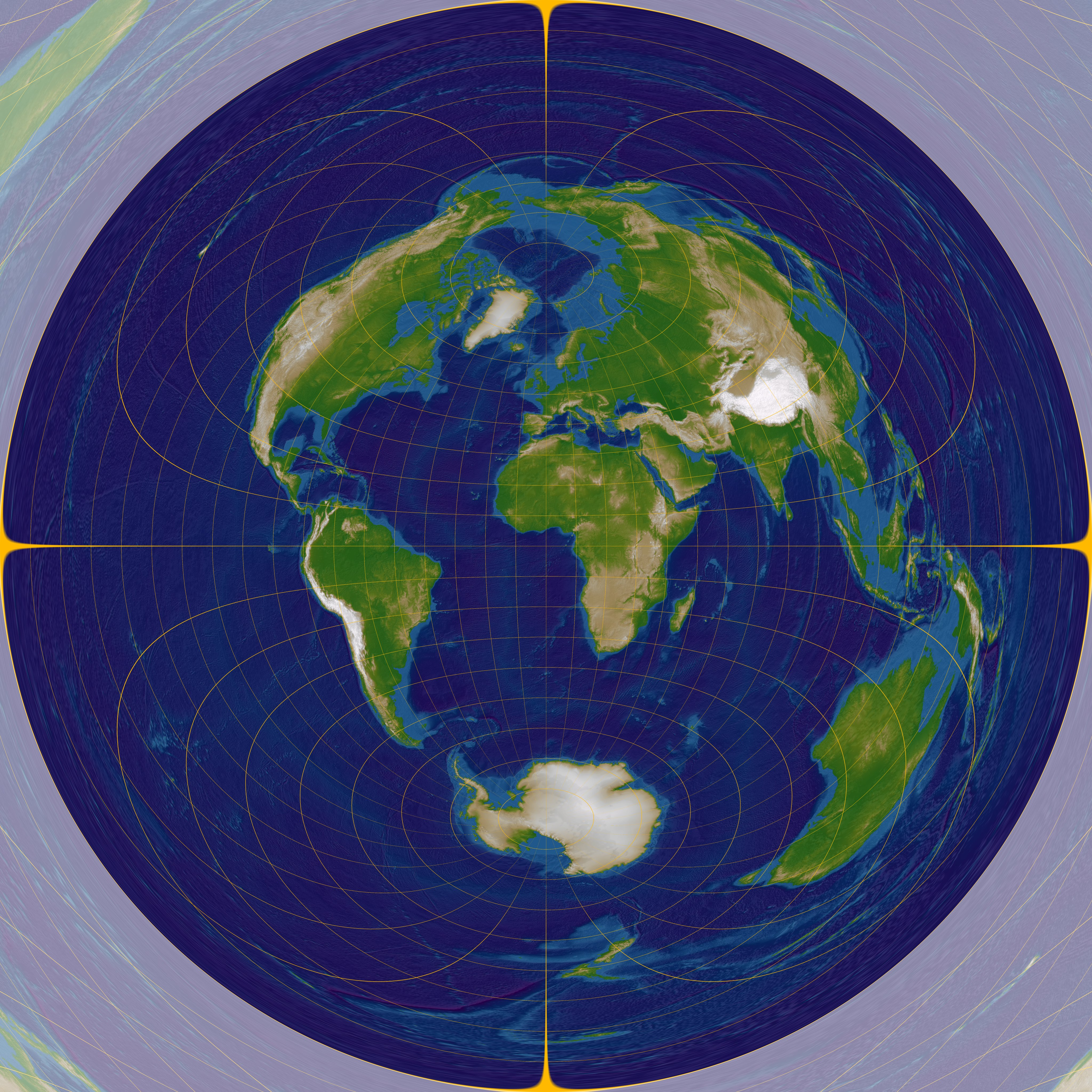 Map Projections - types and distortion patterns