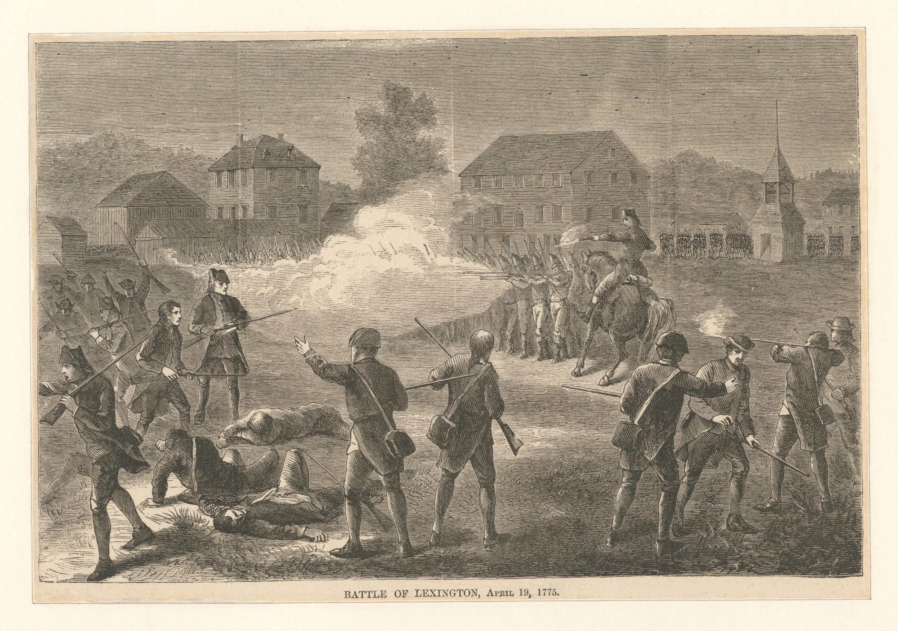 Battle of Lexington, April 19, 1775, New York Public Library
