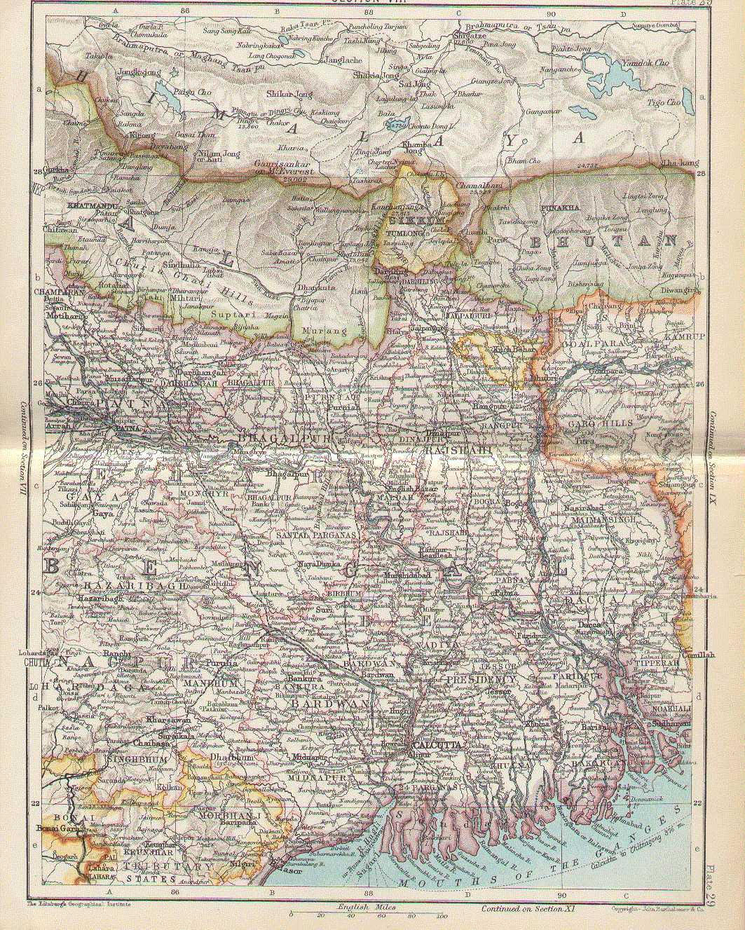 Bengal Map India Map of The Bengal Province