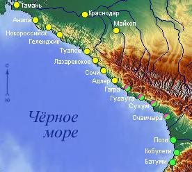 Картинки карта черноморского побережья