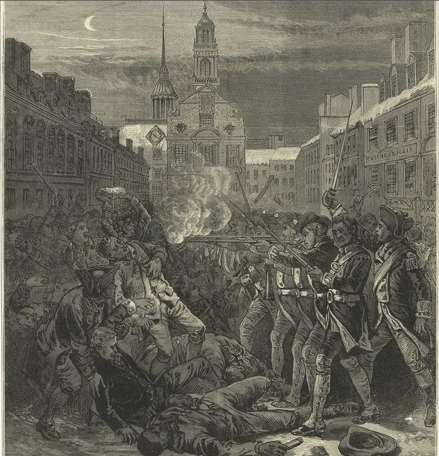 Engraving of the Boston Massacre by Paul Revere. Yes, that Paul Revere ...