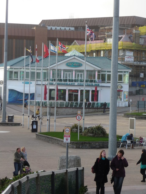 Bournemouth , Flags and Open Concrete on Pier Approach - geograph.org.uk - 1595202.jpg