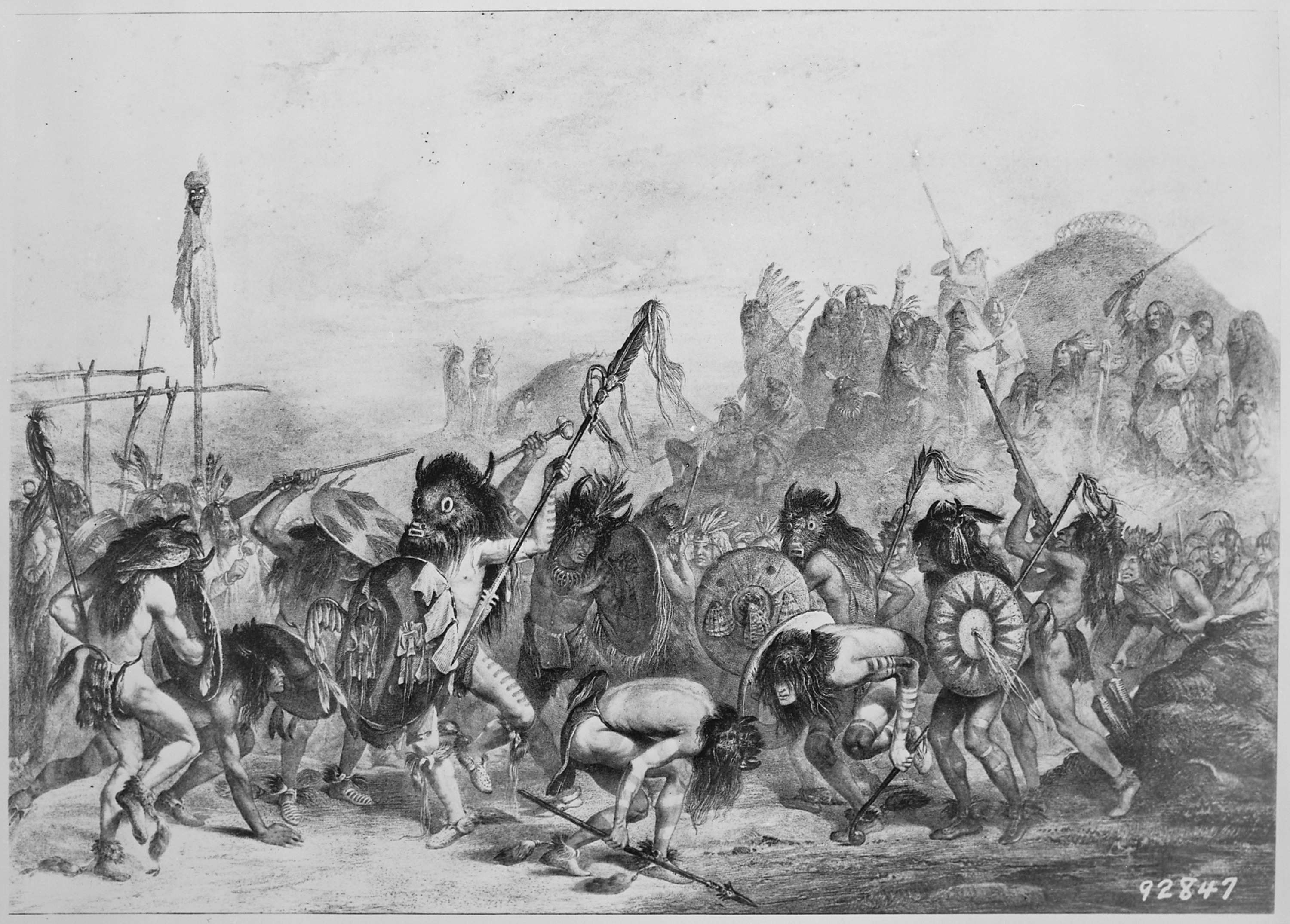 File:Buffalo dance of the Mandans, 1833 - 1834 - NARA - 530978.