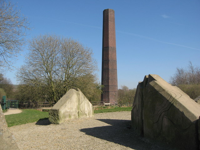 Burrs Mill Chimney, Bury (geograph 388064)