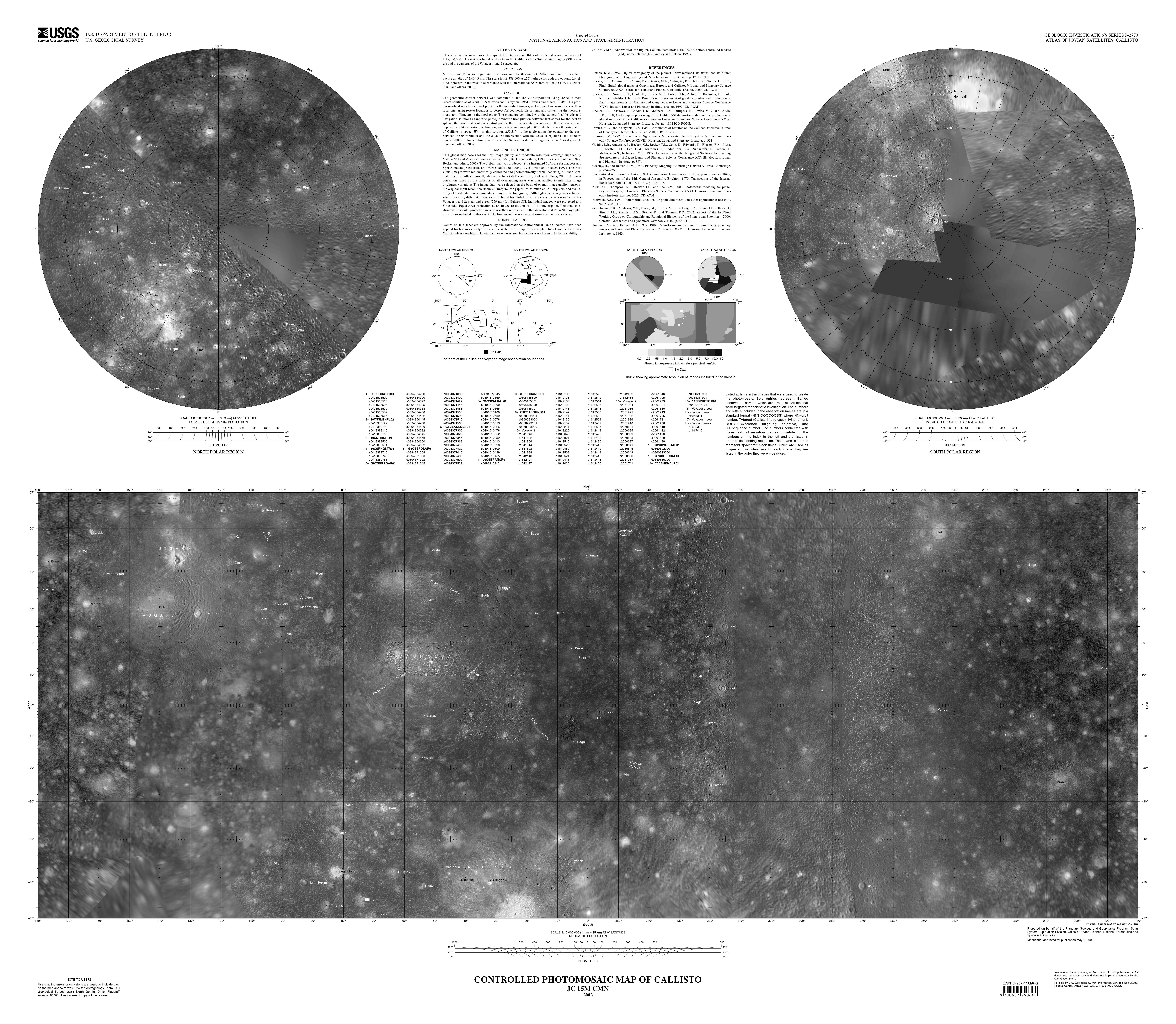 Callisto Map Google Images