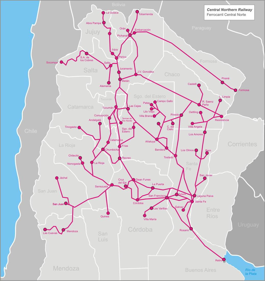 Ferrocarril Central Norte Argentino - Wikipedia, la enciclopedia libre