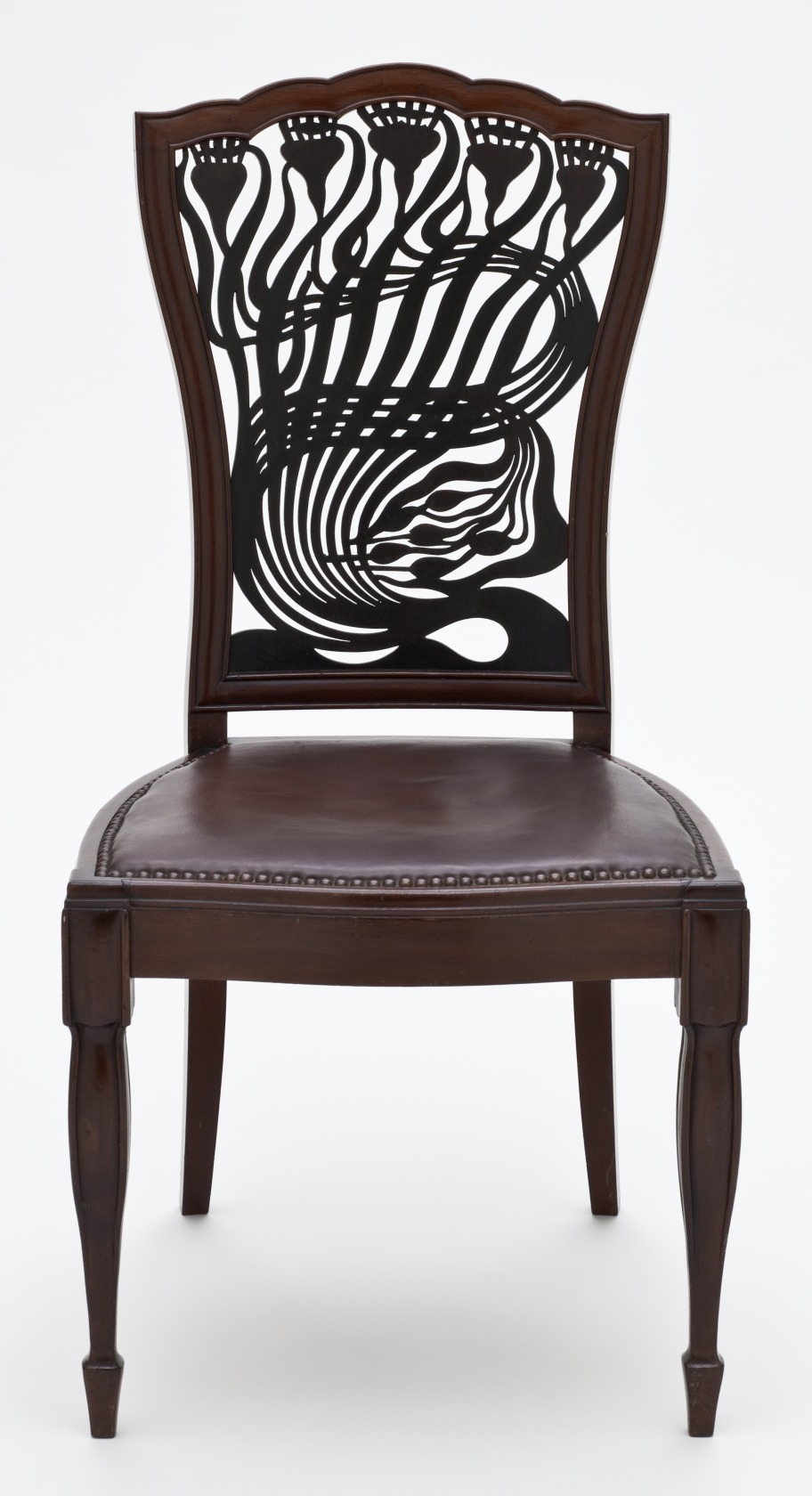 Arts Crafts Chair Leather Octaganol