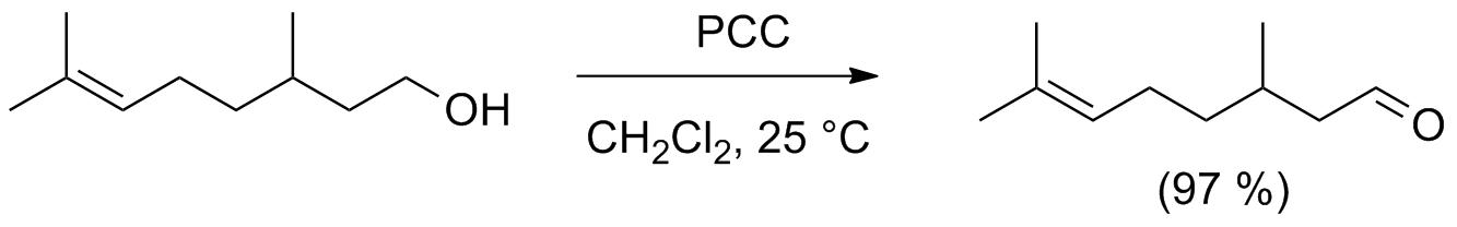 Схема окисления цитронеллола хлорхроматом пиридиния