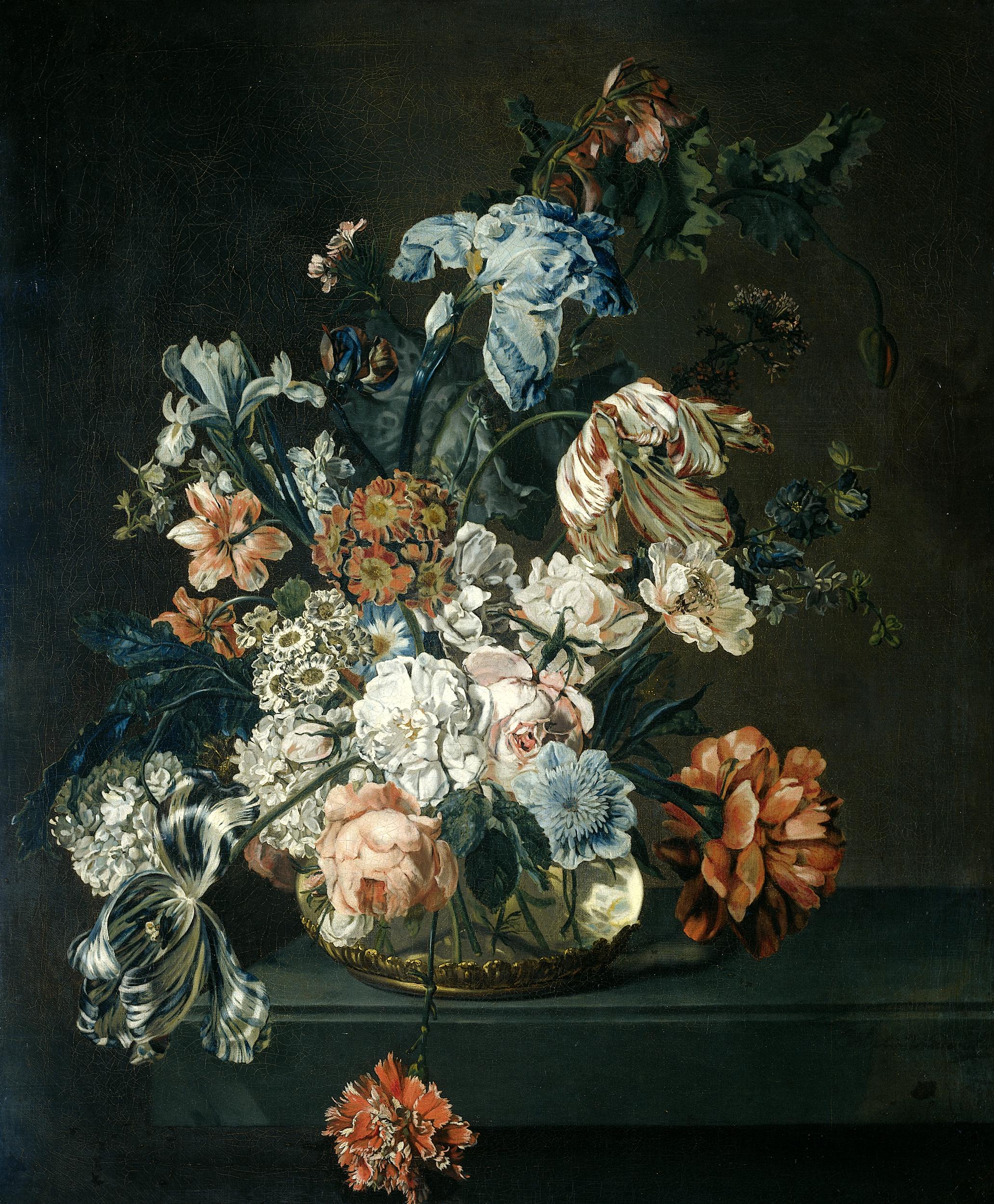 Flower Painting Black