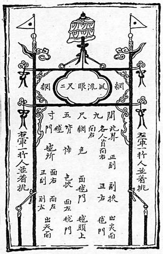 illustration of a cuju goal - Chinese Cuju (Ancient Soccer)
