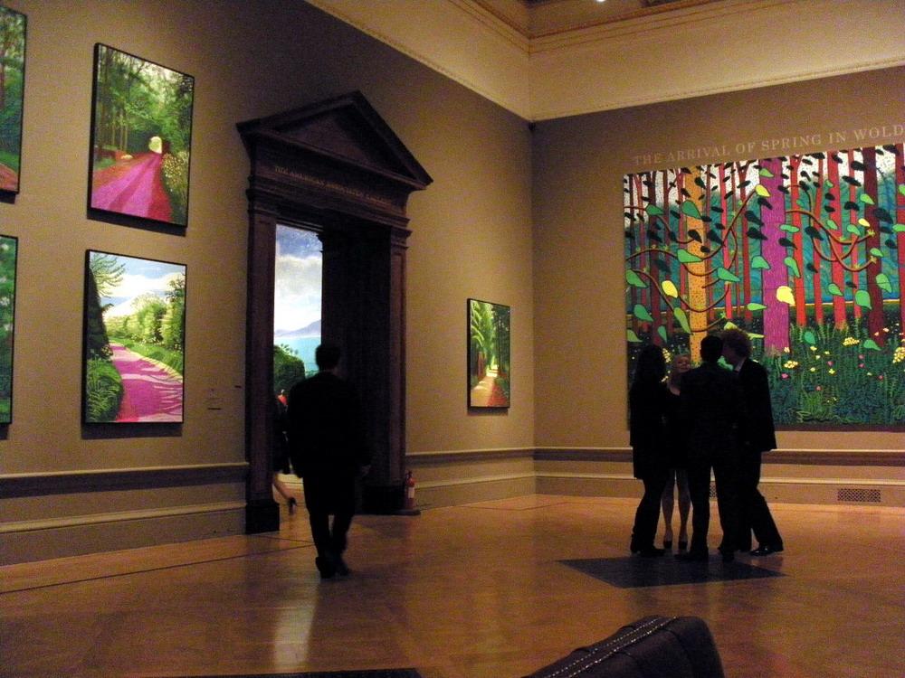 D Art Exhibition London : David hockney — wikipédia