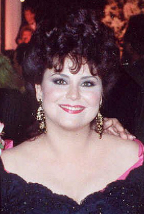Delta Burke at the Governor's Ball after the 1990 Emmy Awards.